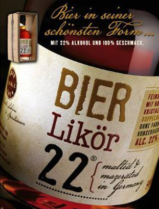 BIER Likör 22° by Eberle malted & malzerated in Germany 19,99 € / Fl.